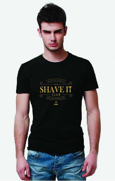 Shave It Club T-Shirt Gold